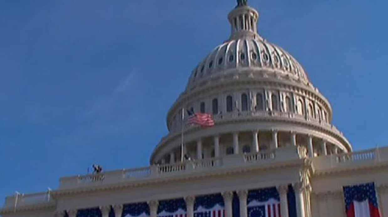 PHOTOS Investiture de Barack Obama: son arrivée au Capitole