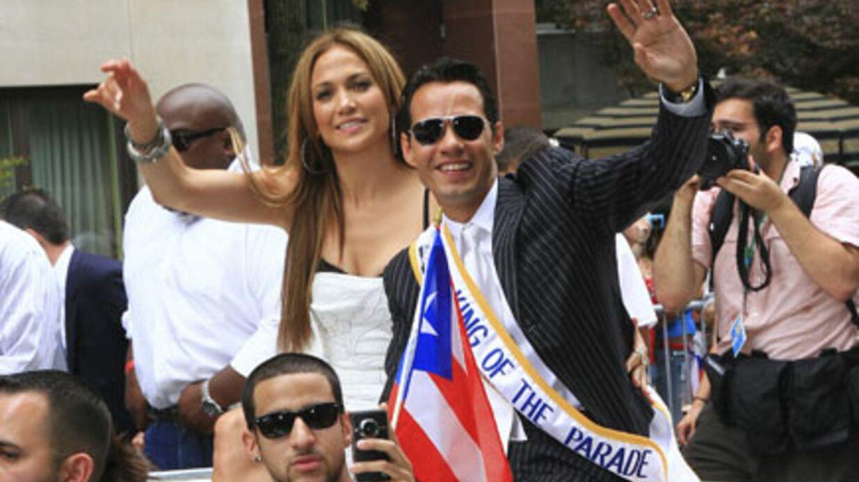 PHOTOS Jennifer Lopez et Marc Anthony stars de la parade portoricaine