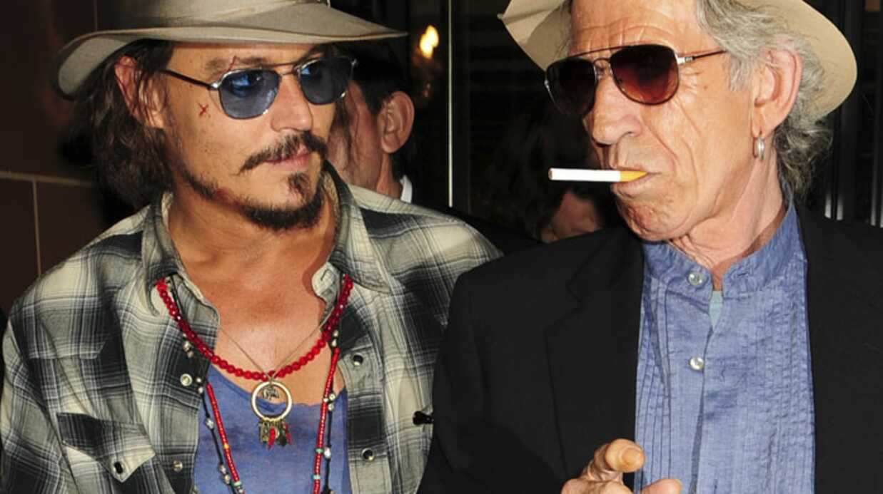PHOTOS Johnny Depp et Keith Richards prennent une cuite