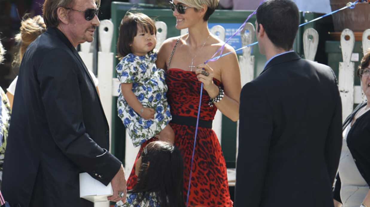 PHOTOS Johnny Hally­day : sortie en famille à Los Angeles