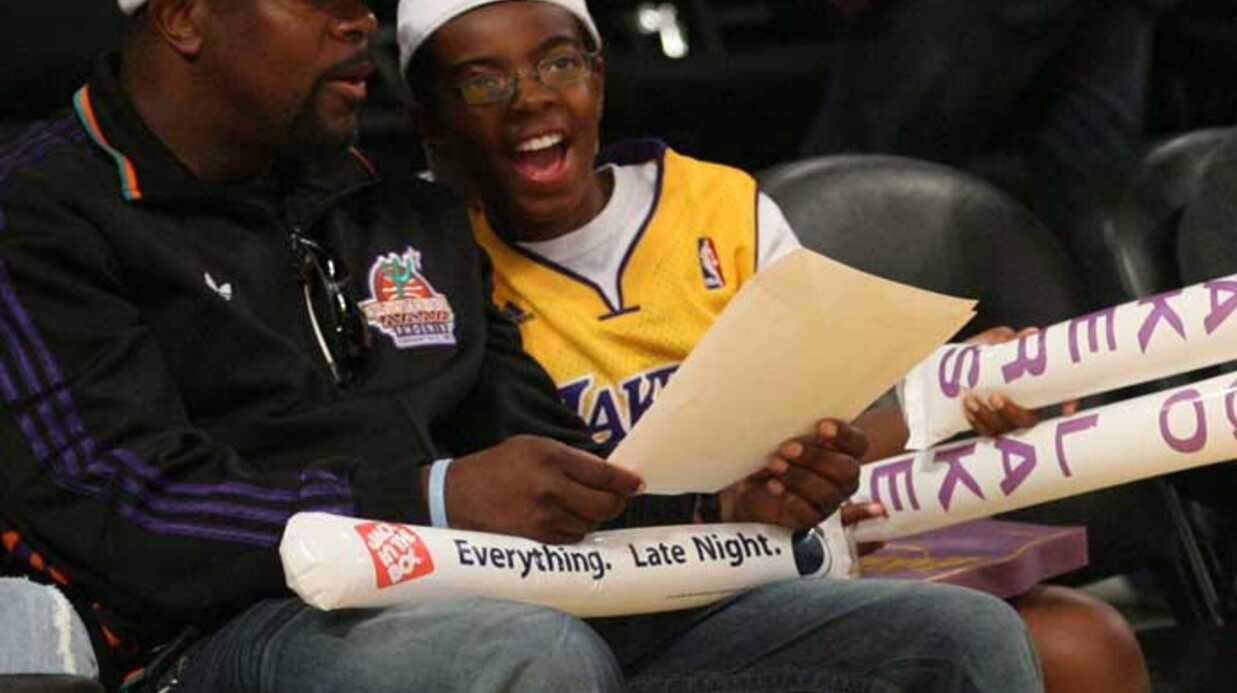 PHOTOS Les people au premier rang du match des Lakers
