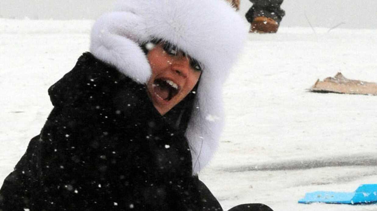 PHOTOS Lily Allen s'éclate dans la neige