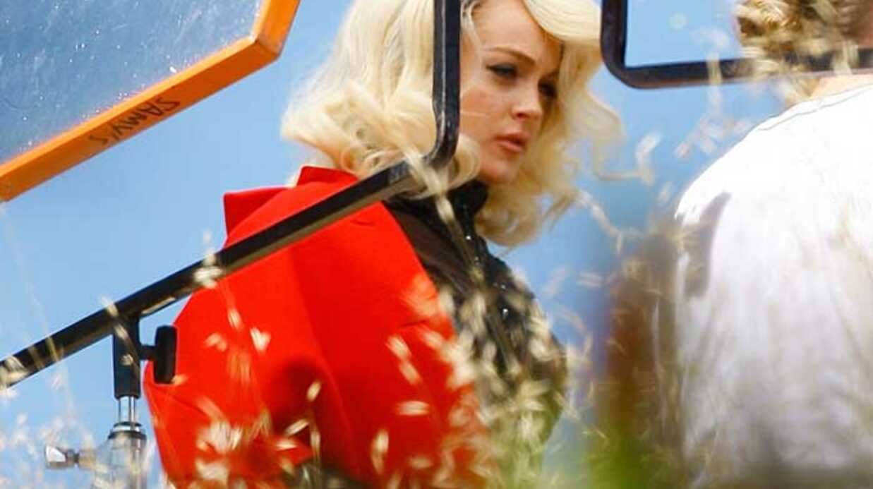 PHOTOS  Lindsay Lohan pose en Marilyn Monroe pour Vogue