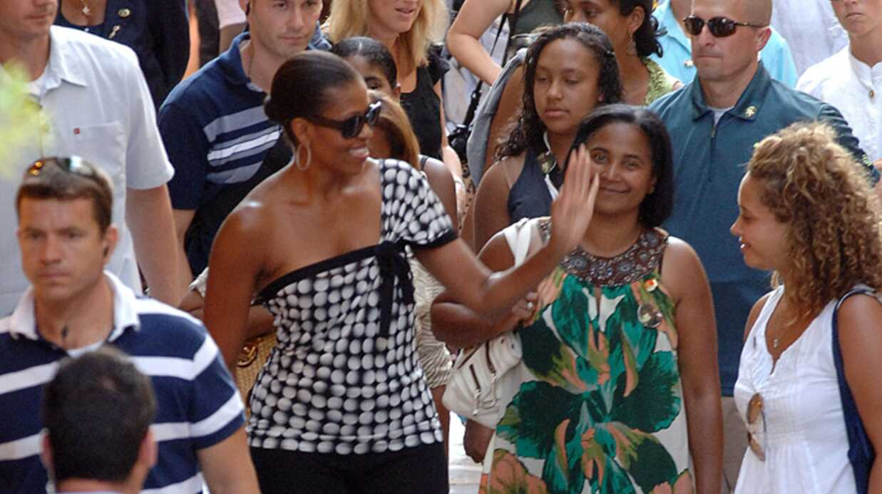 PHOTOS Michelle Obama et sa fille à Marbella
