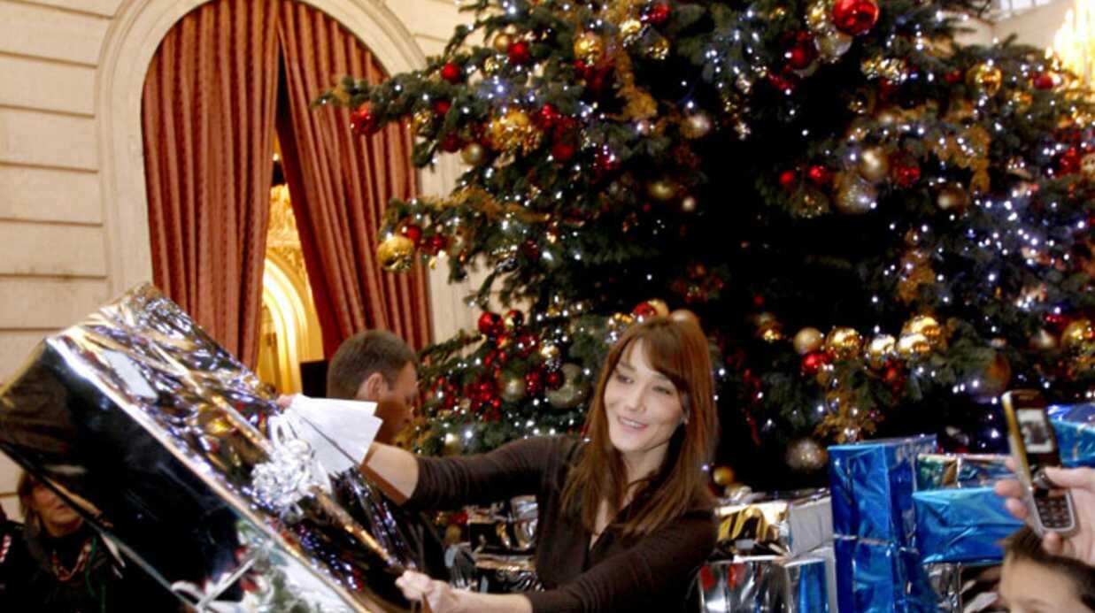 PHOTOS  Carla Bruni rayonne au Noël de l'Elysée