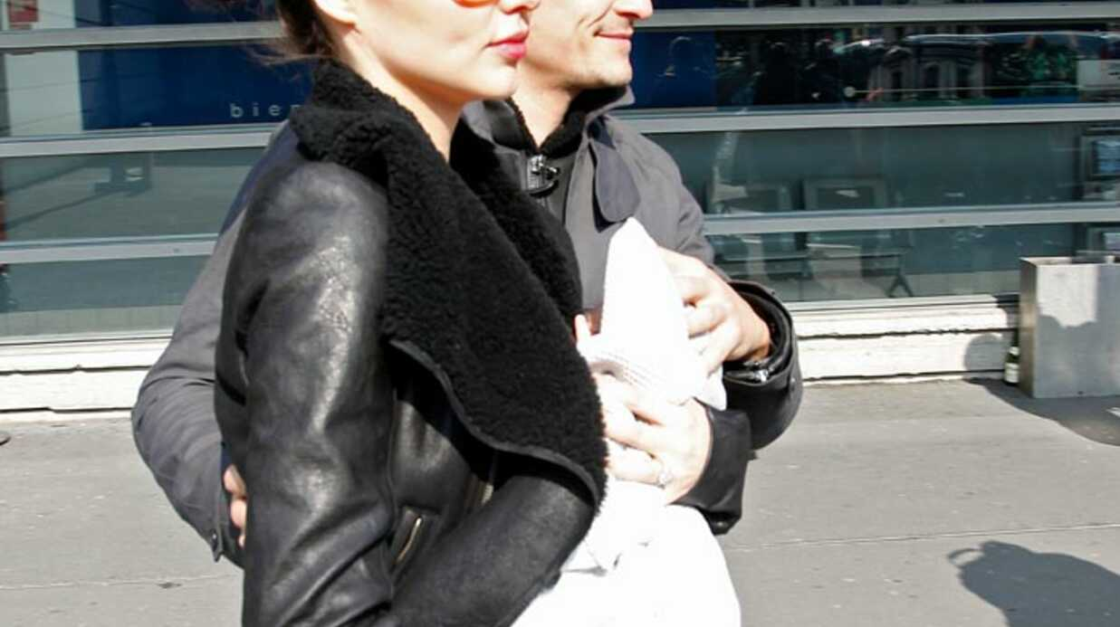 PHOTOS Orlando Bloom et Miranda Kerr à Paris avec Flynn