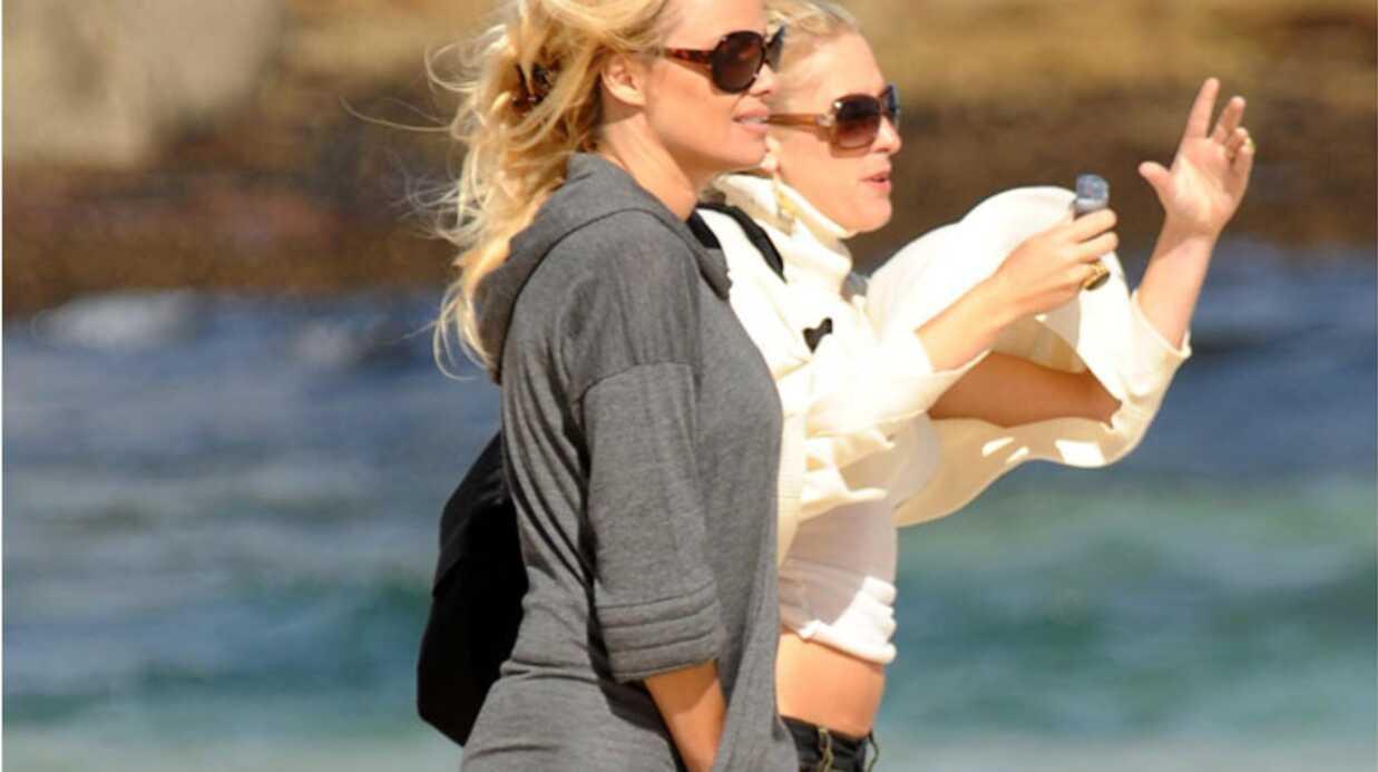 Pamela Anderson en Australie avec son fils