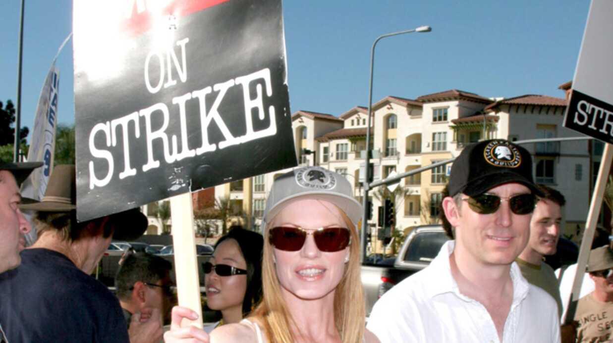 Grève des scénaristes Hollywood t'es foutu, les people sont dans la rue!