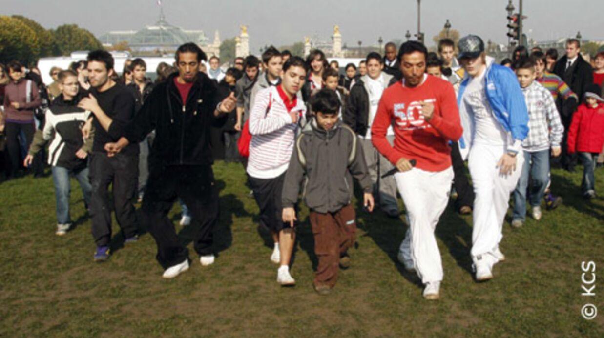 Star Academy 2008: Cours de danse aux Invalides
