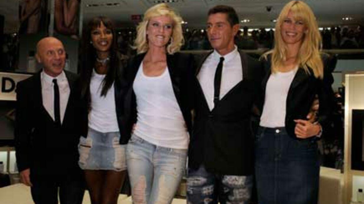 PHOTOS Naomi, Eva et Claudia réunies pour Dolce Gabbana