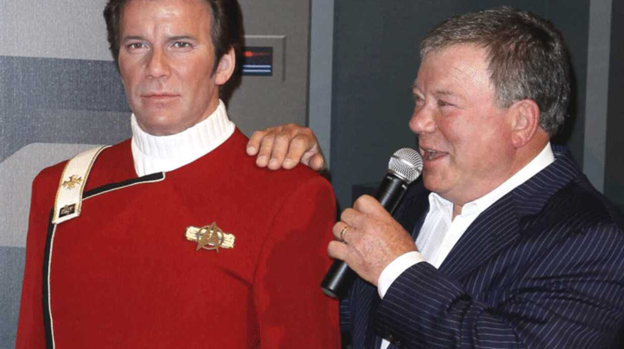 PHOTOS Star Trek : William Shat­ner chez Madame Tussauds