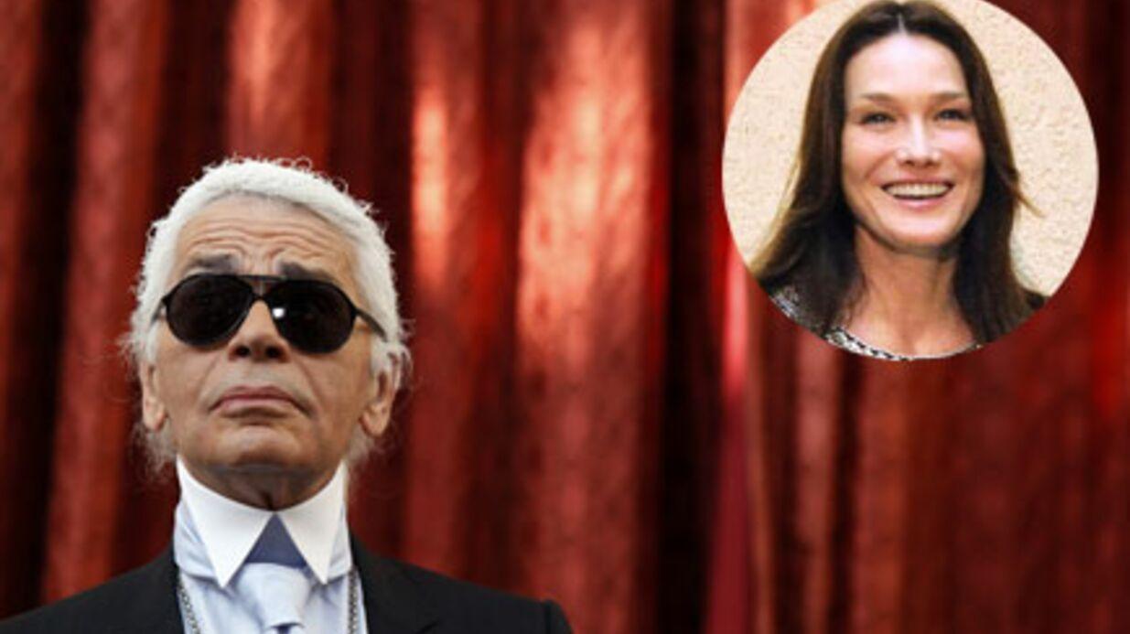 Karl Lagerfeld: Carla Bruni veut le réconcilier avec Frédéric Mitterrand