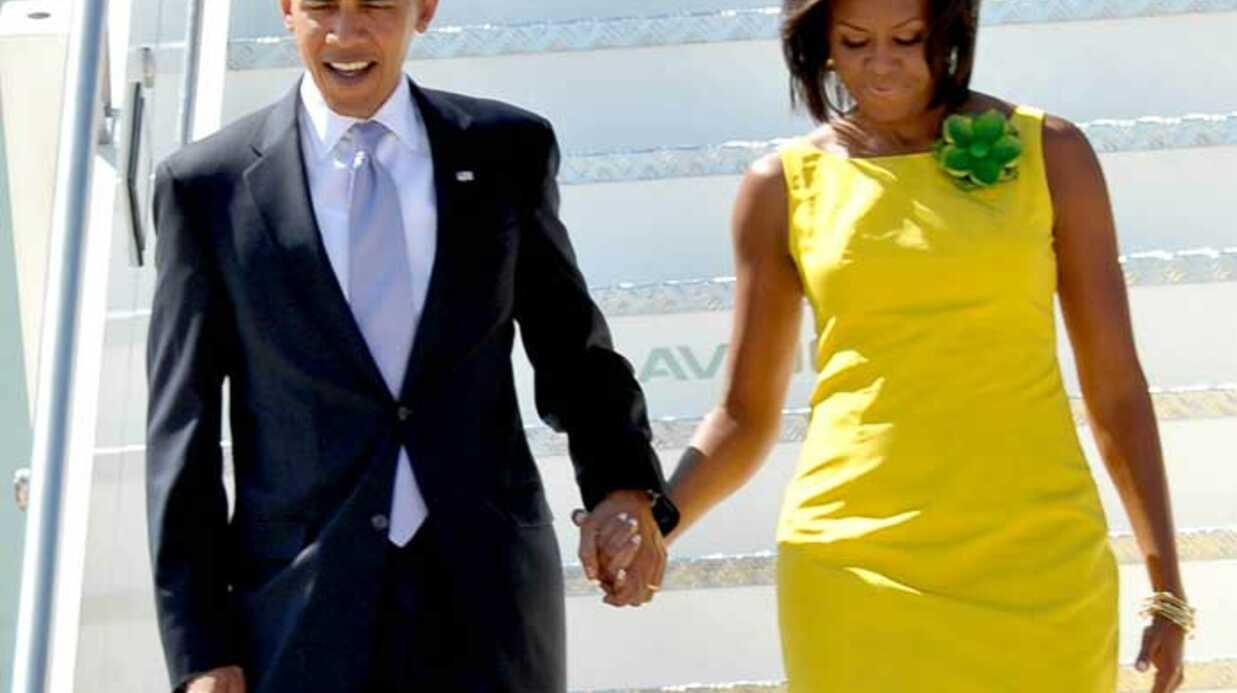 LOOK Michelle Obama en robe jaune à Rome