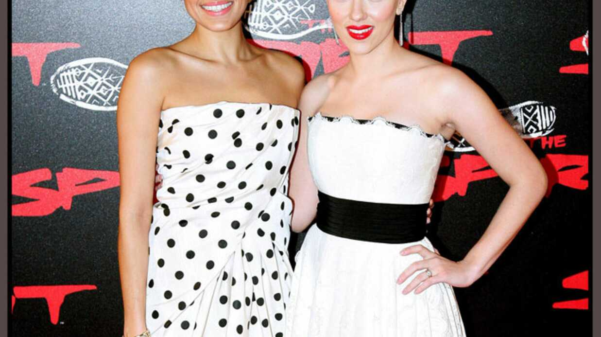 LOOK – Eva Mendes et Scarlett Johansson en blanc