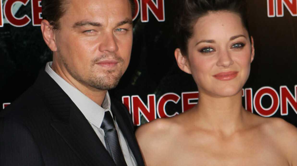 Marion Cotillard et Leonardo DiCaprio à la première d'Inception