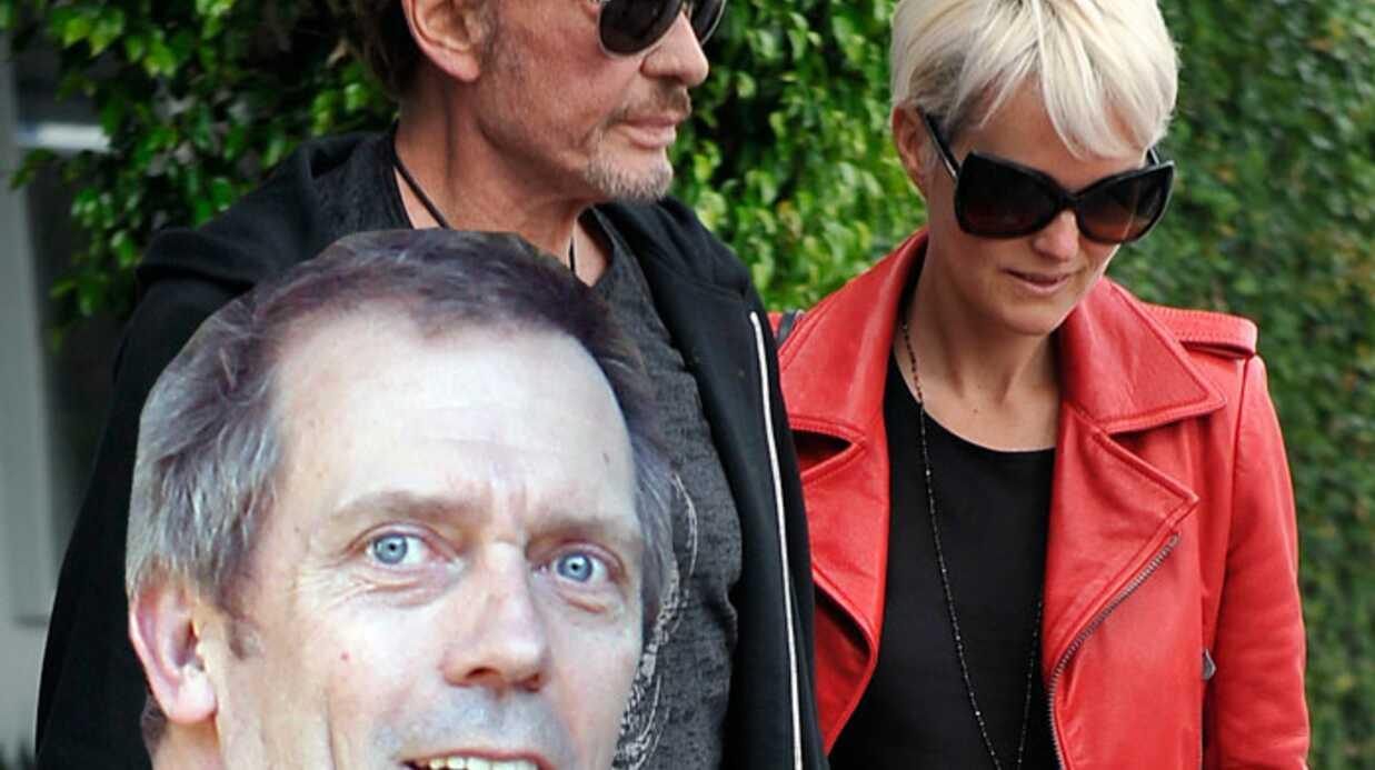 Johnny Hallyday assiste au live de Hugh Laurie