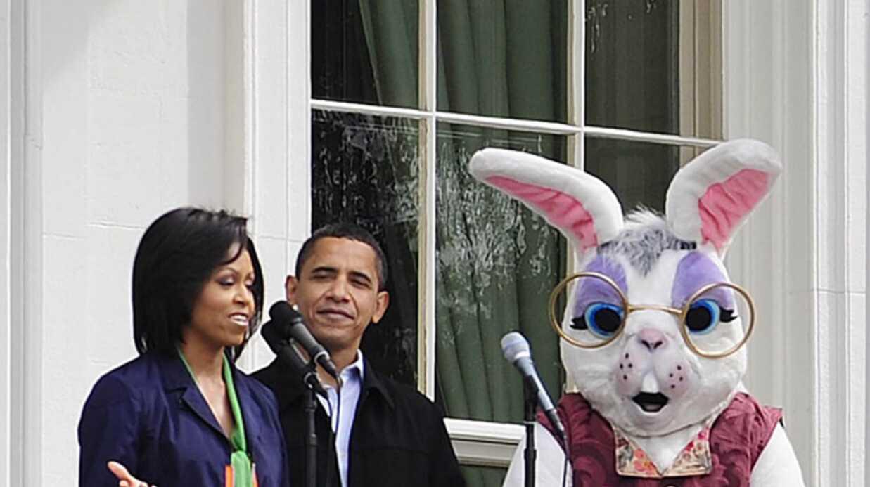 Barack Obama invite le lapin de Pâques