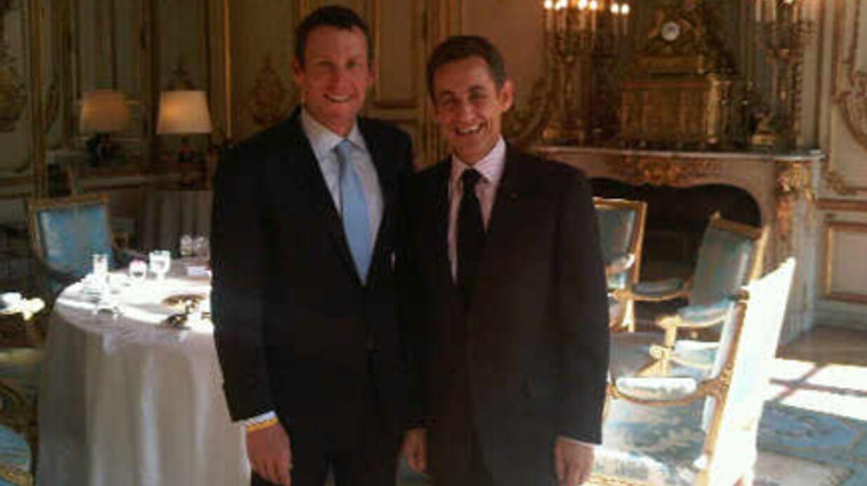 Nicolas Sarkozy a déjeuné avec Lance Armstrong