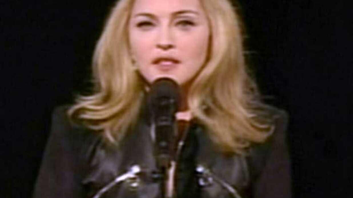 Madonna:  son discours hommage à Michael Jackson