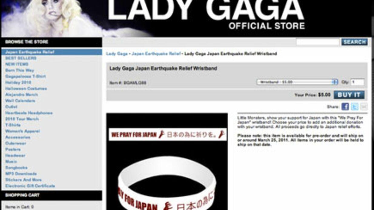 Lady Gaga récolte 180 000 euros pour le Japon