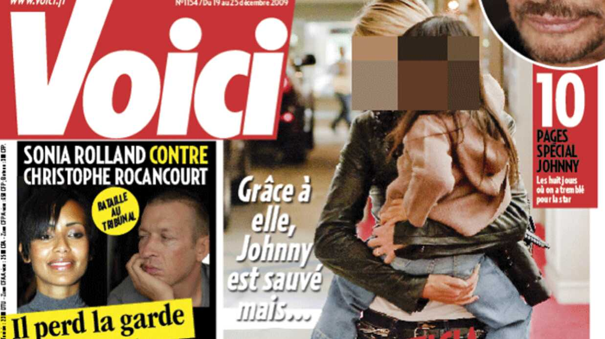 Voici : 10 pages spéciales Johnny Hally­day