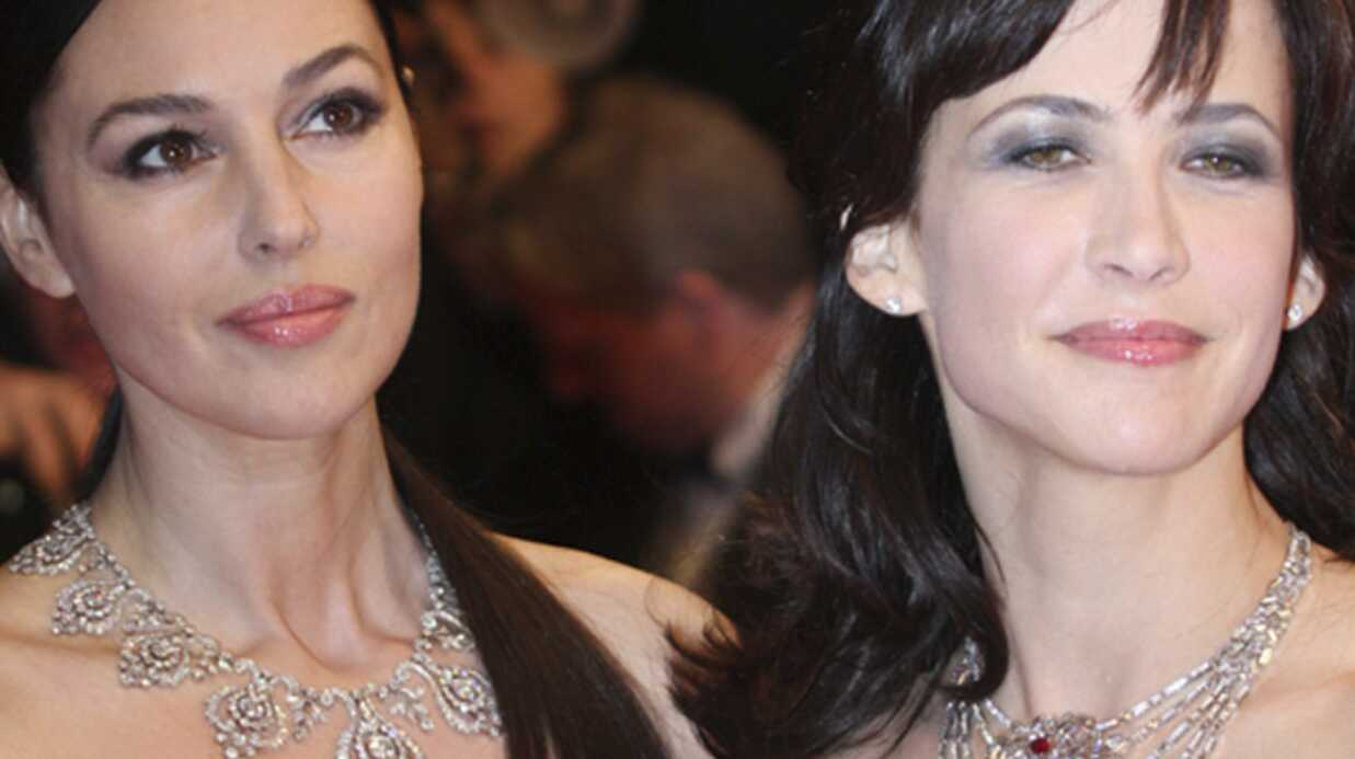Sophie Marceau et Monica Bellucci: raillées à Cannes