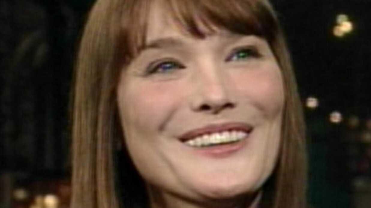 Carla Bruni-Sarkozy: ses révélations chez Letterman