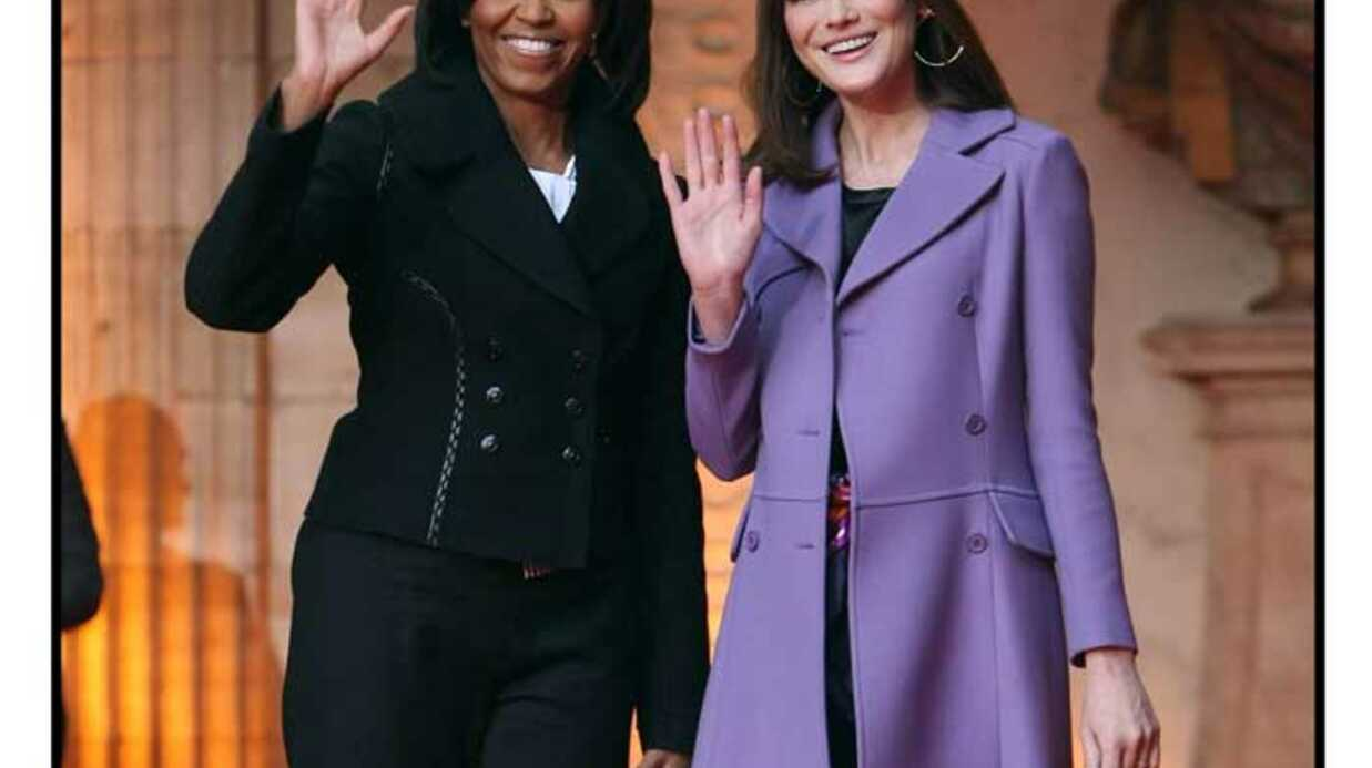 Michelle Obama mieux frin­guée que Carla Bruni-Sarkozy
