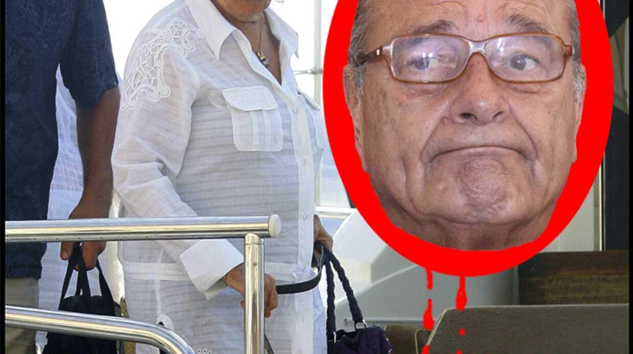 Jacques Chirac mordu par son chien Sumo