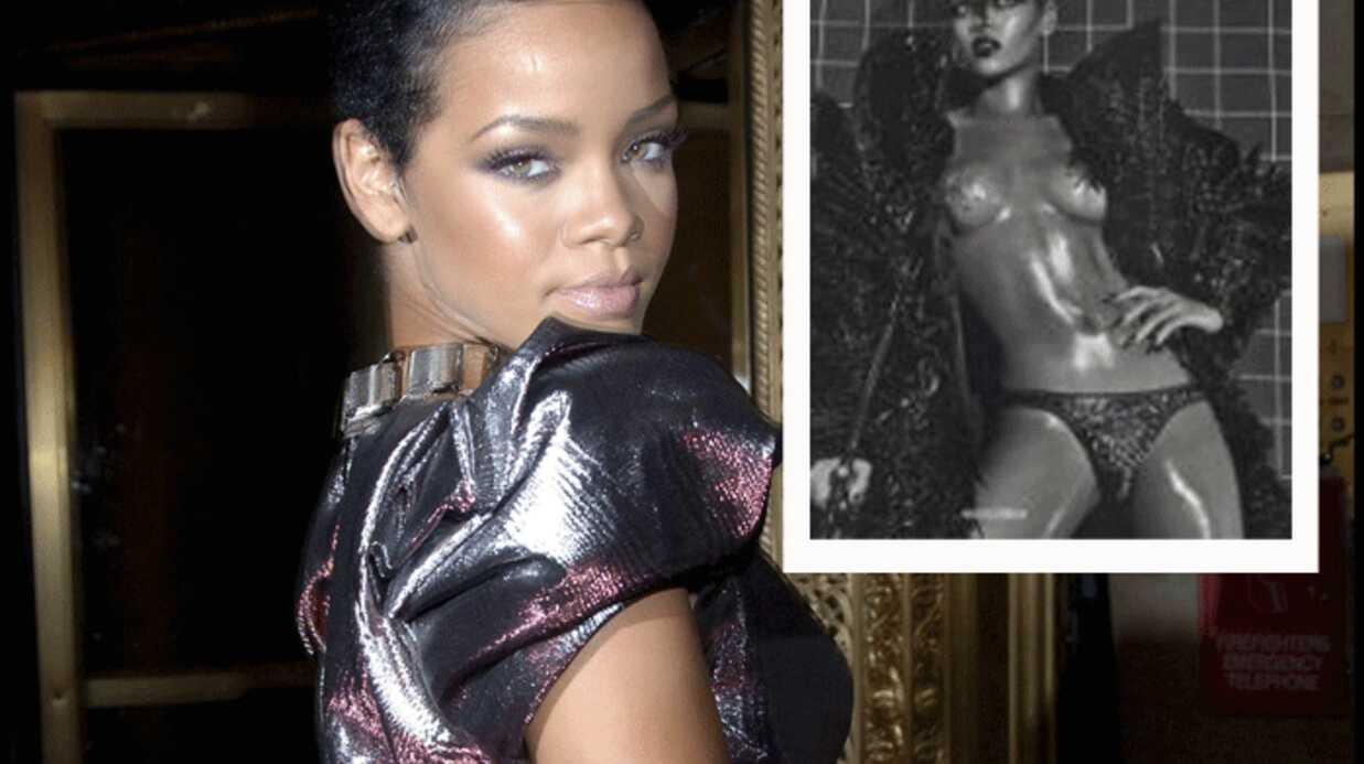 Rihanna pose nue en une de Vogue Italia