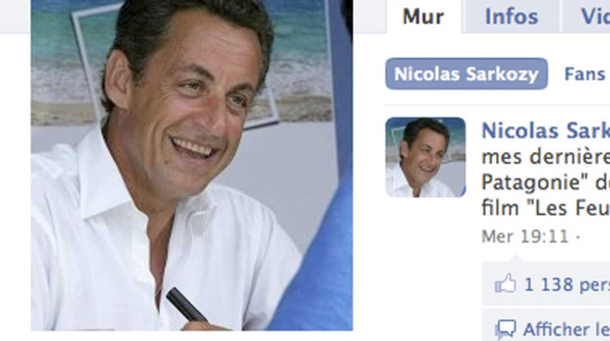Nico­las Sarkozy remer­cie ses suppor­ters sur Face­book