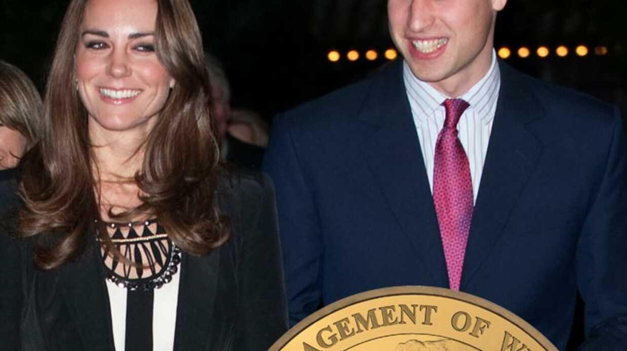 Prince William et Kate Middleton: une pièce à leur effigie