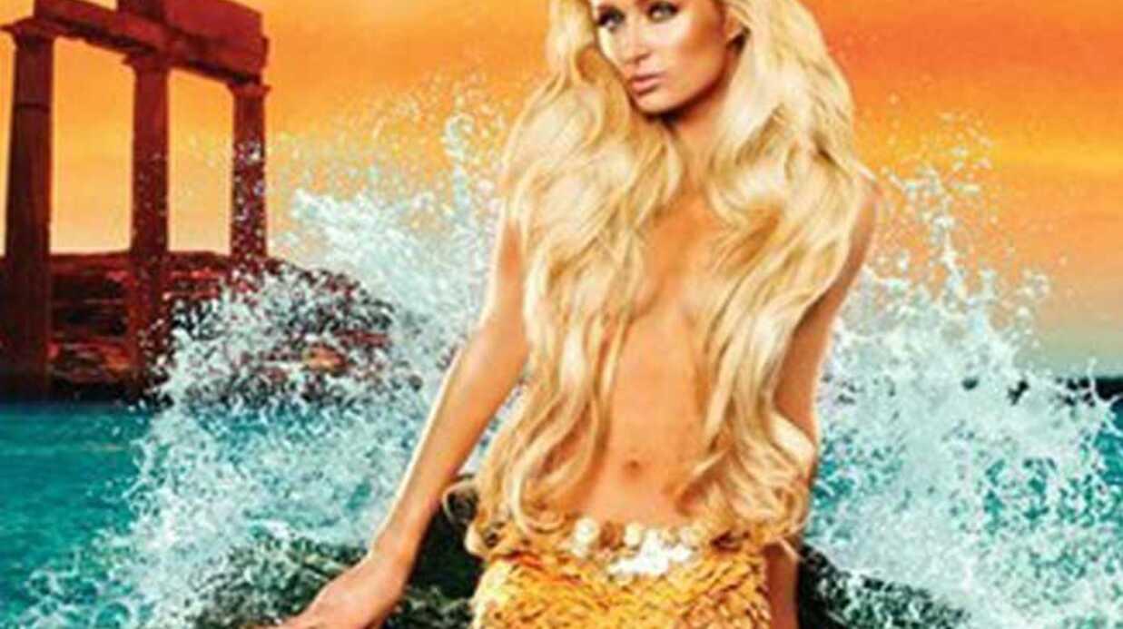 Paris Hilton en sirène pour la promo de son parfum