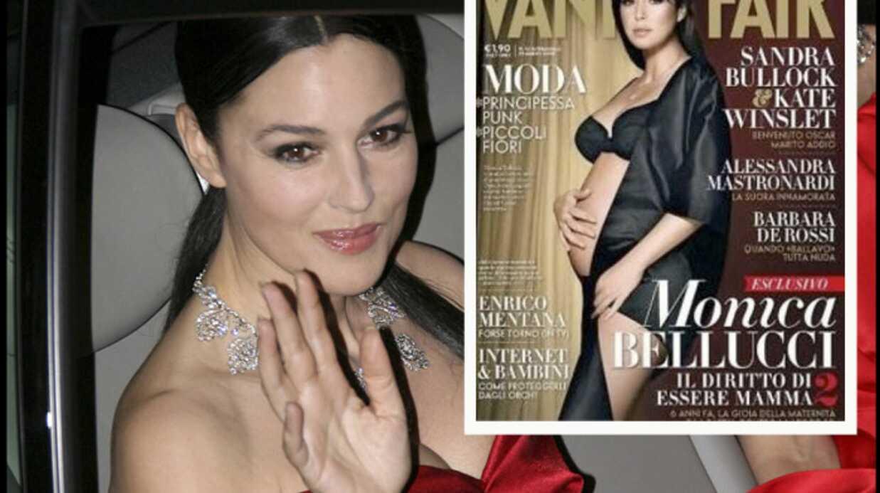 Monica Bellucci enceinte en Une de Vanity Fair