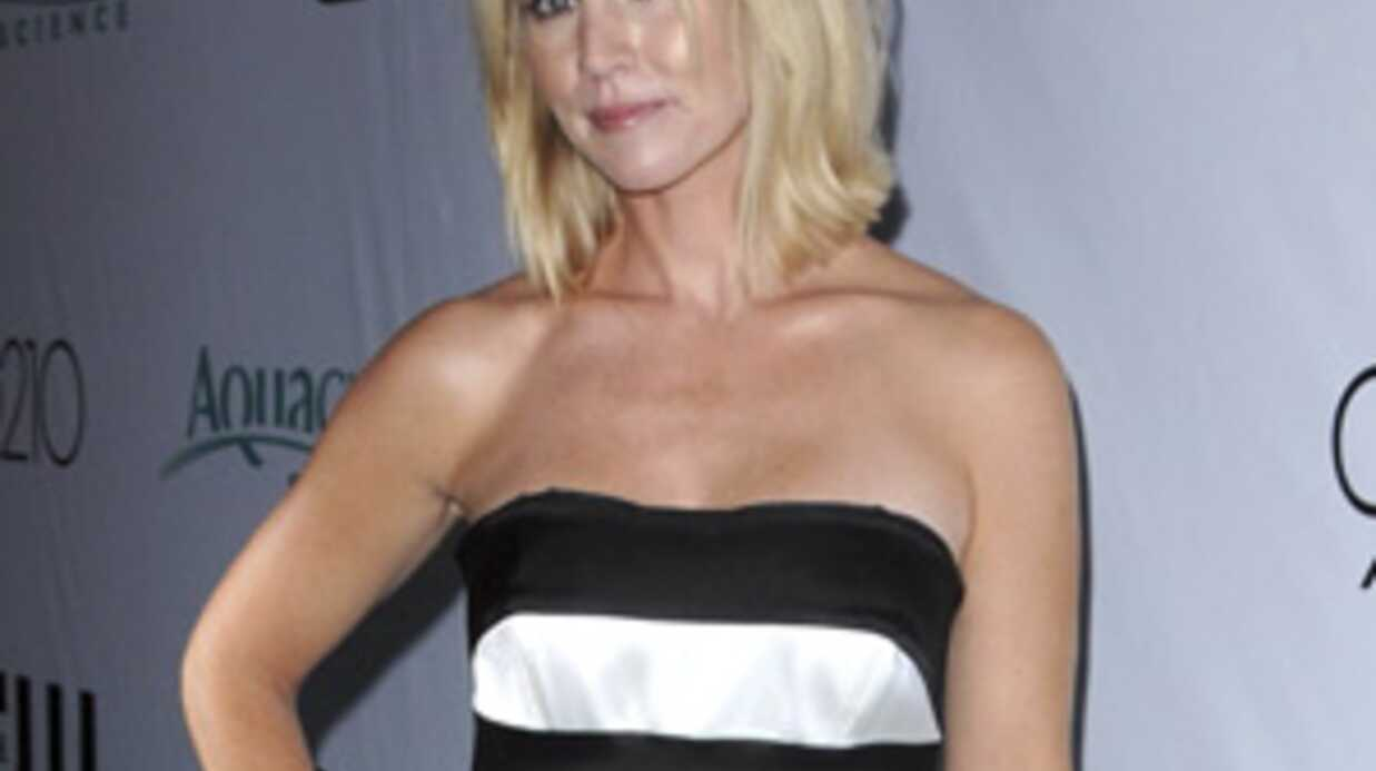Jennie Garth sur le tournage de Beverly Hills avec Shannen Doherty