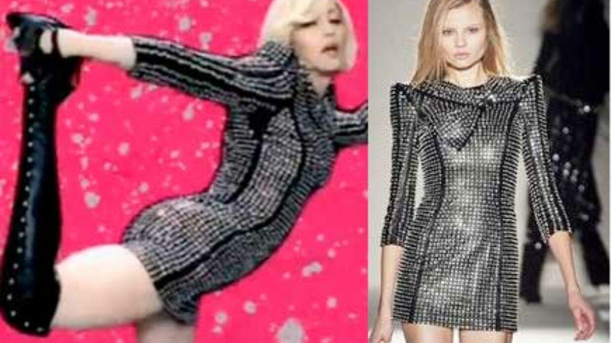 LOOK Madonna adopte un total look Balmain dans son clip Celebration