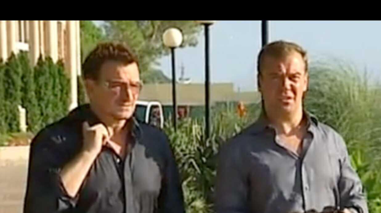 VIDEO Bono et le président russe boivent le thé