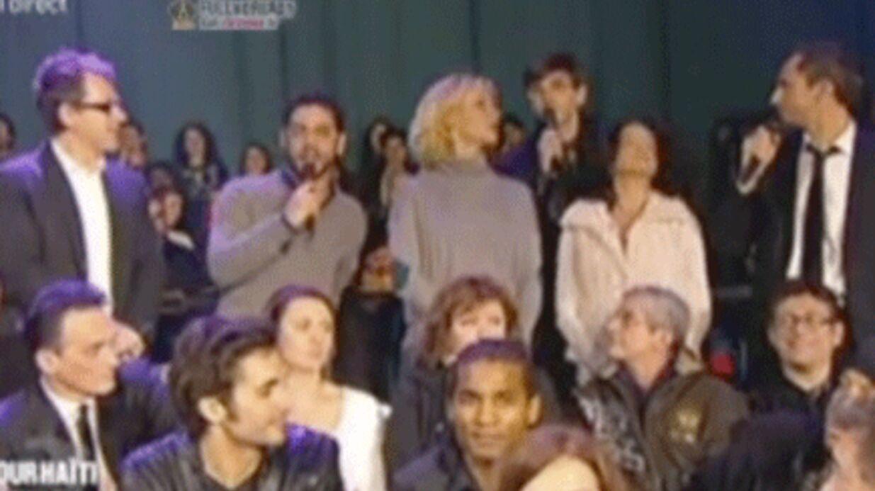 VIDEO Incident pendant le concert pour Haïti sur France 2