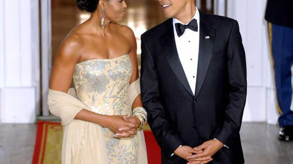 LOOK Michelle et Barack Obama: un couple glamour