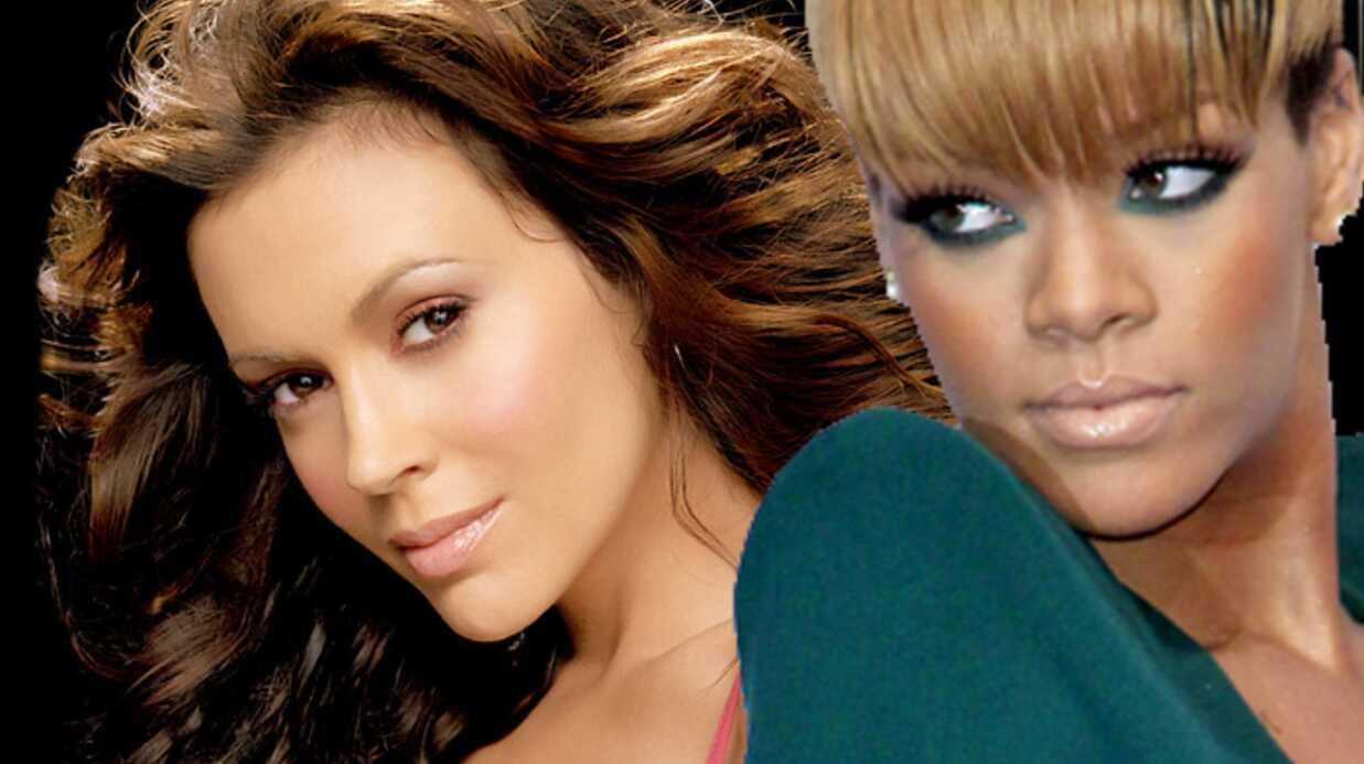 Alyssa Milano n'aime pas le look de Rihanna