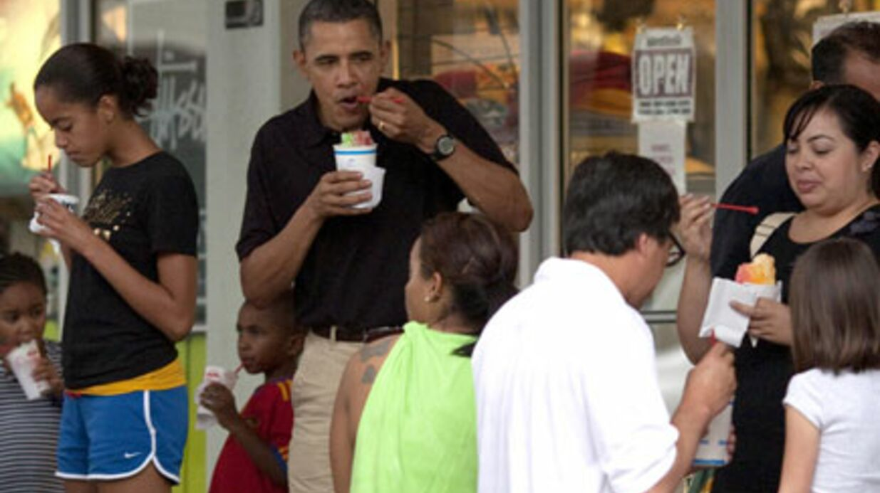 PHOTOS Barack Obama nargue la vague de froid