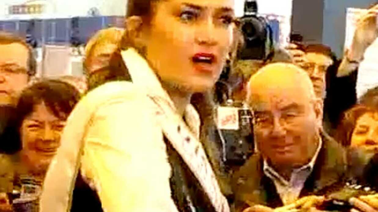 VIDEO Miss Nationale se prend un oeuf en pleine tête