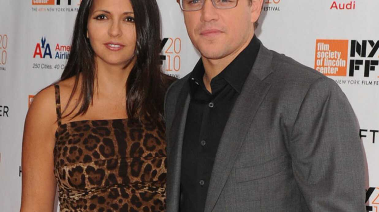 Matt Damon et sa femme parents d'une autre petite fille