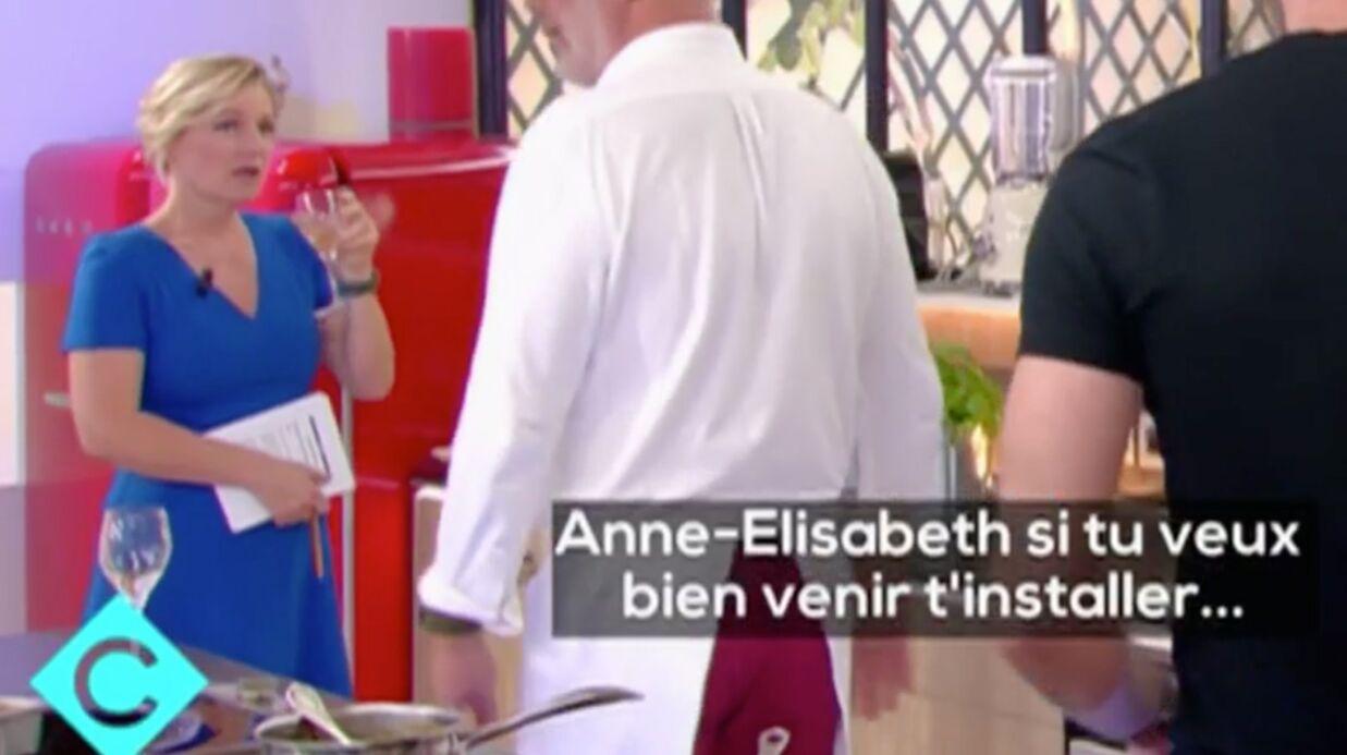 VIDEO Anne-Elisabeth Lemoine surprise en train de boire du vin dans les coulisses de C à vous