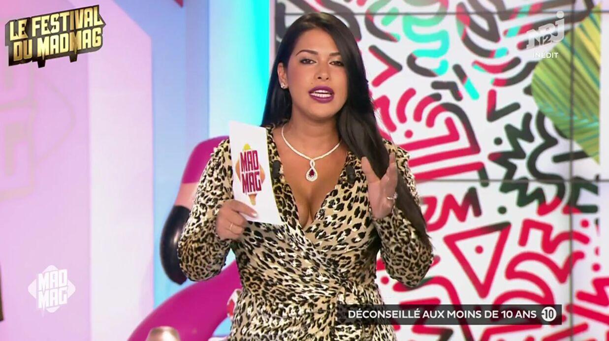 VIDEO Ayem Nour, ultra sexy, dégaine le décolleté et la robe léopard dans le Mad Mag