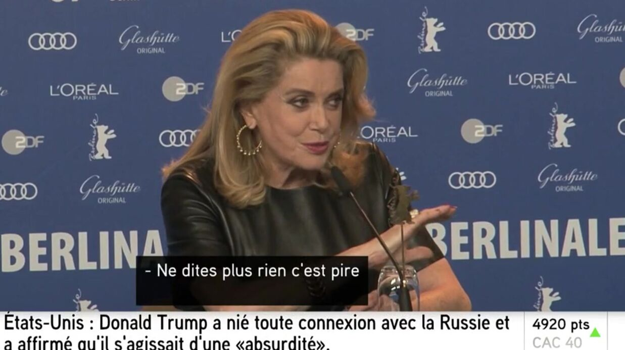 VIDEO Cathe­rine Deneuve remet en place une jour­na­liste qui tacle son dernier film