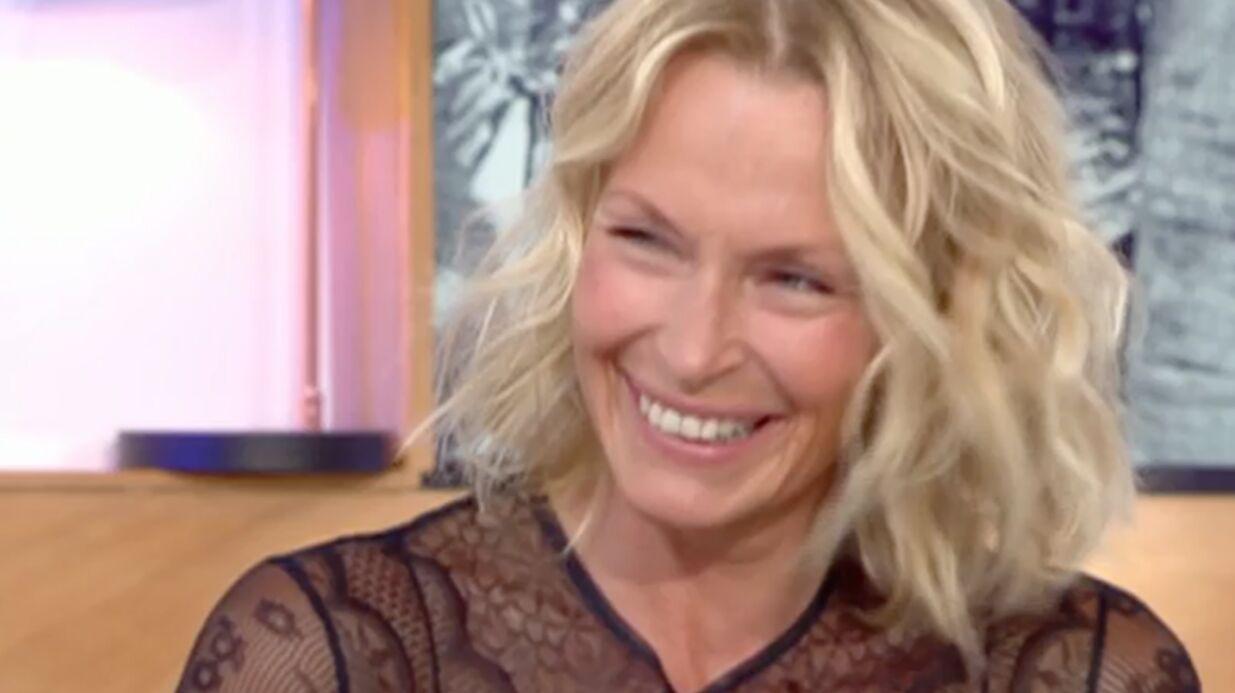 VIDEO Pour son bien-être, Estelle Lefébure fait des câlins aux arbres (pour de vrai)