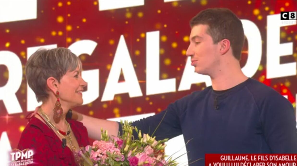 VIDEO Isabelle Morini-Bosc en larmes après une visite surprise de son fils dans TPMP