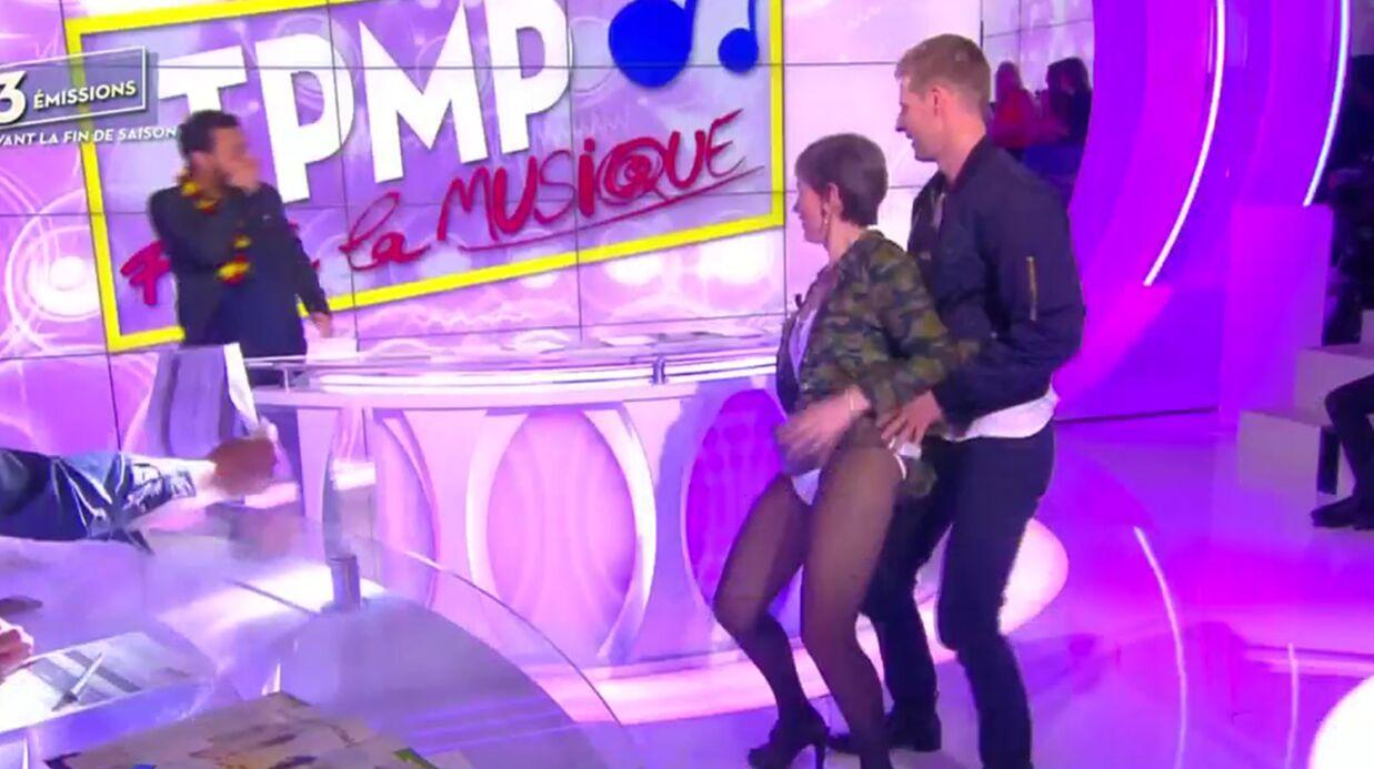 VIDEO Isabelle Morini-Bosc twerke et montre sa culotte dans Touche pas à mon poste