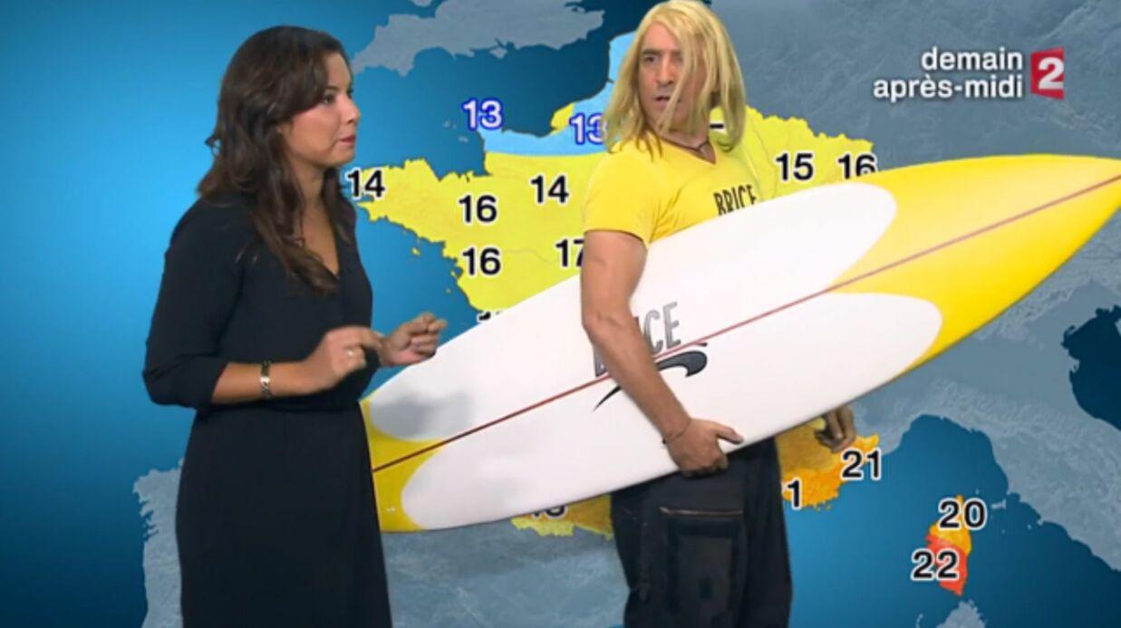 VIDEO Jean Dujardin s'incruste en Brice de Nice dans la météo de France 2